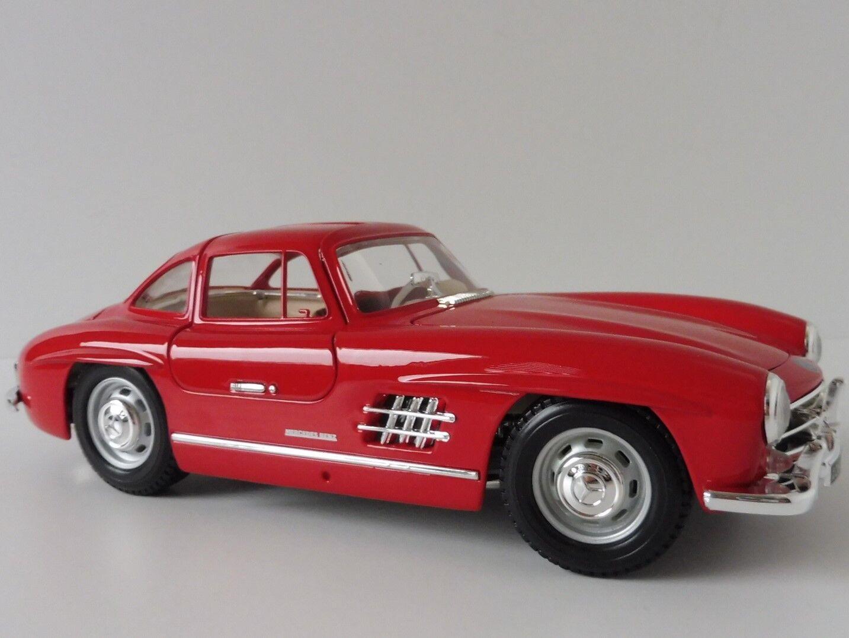 Mercedes-Benz 300 SL SL SL 1954 red 1 18 Bburago 18-12047 BBU18-12047 Burago W198 6cb596