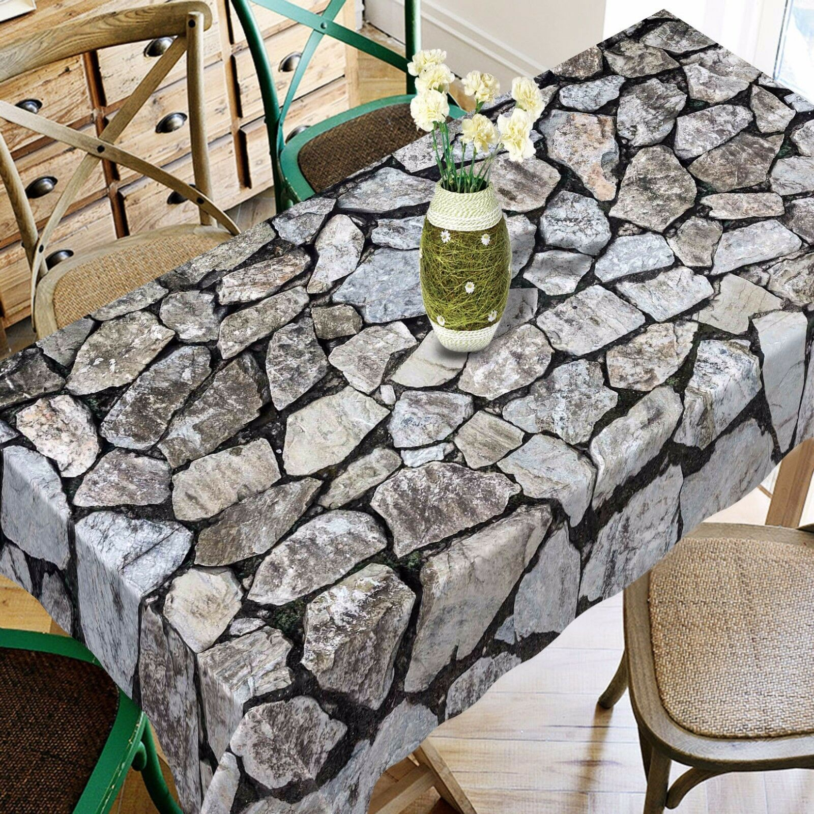 3D Stone 47737 Tablecloth Table Cover Cloth Birthday Party Event AJ WALLPAPER AU