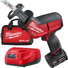 M12 FUEL HACKZALL Recip Saw w/ 4.0Ah Battery + Charger Milwaukee 2520-21XC New