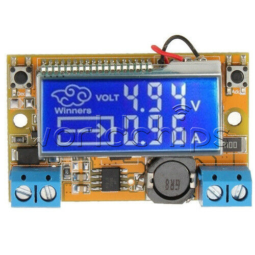 3a LCD Adjustable Dc-dc Double Display Step Down Pulse Power Supply Module for sale online