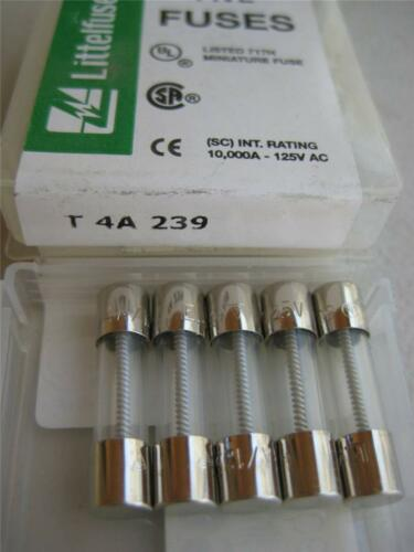 5X Littelfuse Fuse 239 .200 .300 1//2 3//4 1 1-1//4 1-6//10 2 or 2-1//2 Amp 5x20mm T