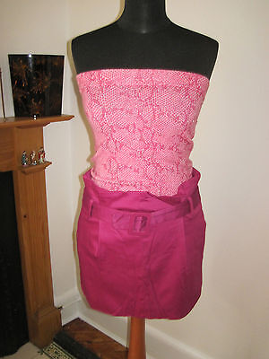 Lulu & Red Designer Mini Skirt 8-10 New Pin-up Fuchsia Pink Sexy Party Utmost In Convenience Skirts Women's Clothing