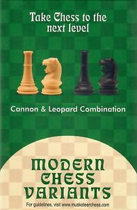 Musketeer Chess Variant Kit - Cannon & Leopard - Black & Natural