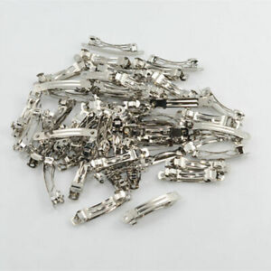 50pcs-40mm-Metal-French-Barrettes-Hair-Clips-Bows-Hair-Accessories