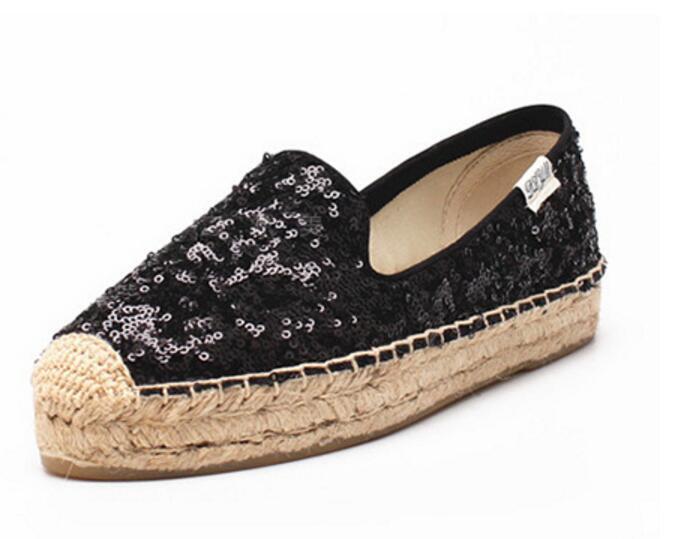 Mujeres gllitter cómoda Alpargatas Silp en Casual sin de Lona Mocasines zapatos sin Casual taco perezoso 1bf790