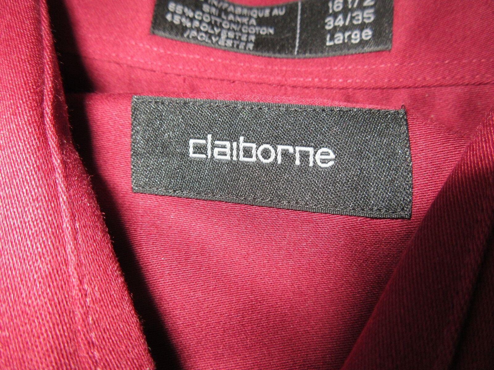 Claiborne , Size Large / 16 1/2 / 34/35 , Men's Long Sl