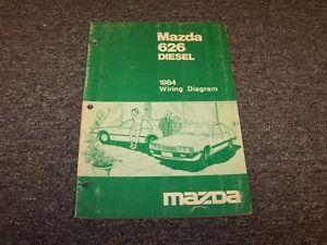 1984 Mazda 626 Diesel Sedan Original Electrical Wiring ...
