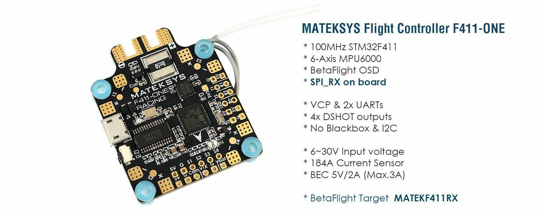 Matek System F411-One 30.5x30.5mm F4 volo Controller  AIO OSD 5V BEC Current Se  risparmiare sulla liquidazione