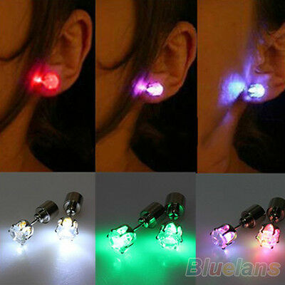 Creative Light Up Led Earrings Studs for Dance Party Xmas New Year B67U