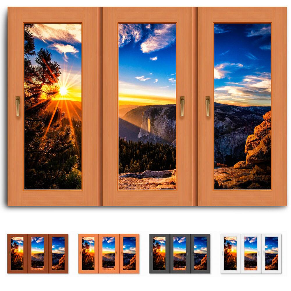 Fenster als Leinwand bild Sonne Berge, Himmel Bilder Keilrahmen Kunstdruck N20-5
