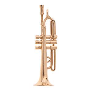 Metal-Miniature-Musical-Instrument-Trumpet-for-1-12-Dolls-House-Decoration