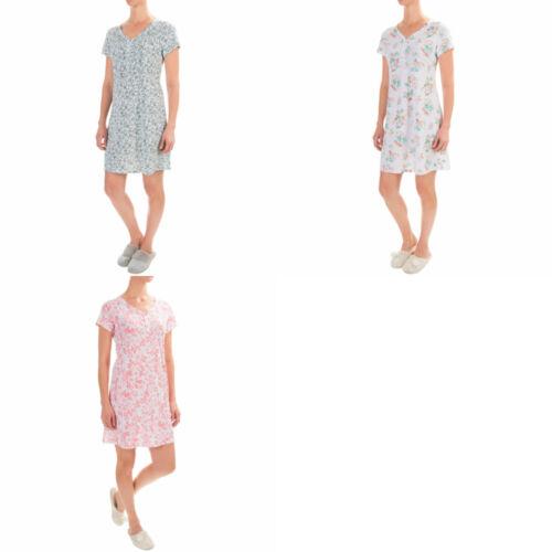 Aria Woman/'s 4 Button Nightgown V Neck Medium XL Large