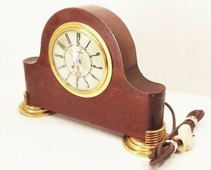 Vtg-antique-Sessions-art-deco-self-starting-mantel-electric-clock