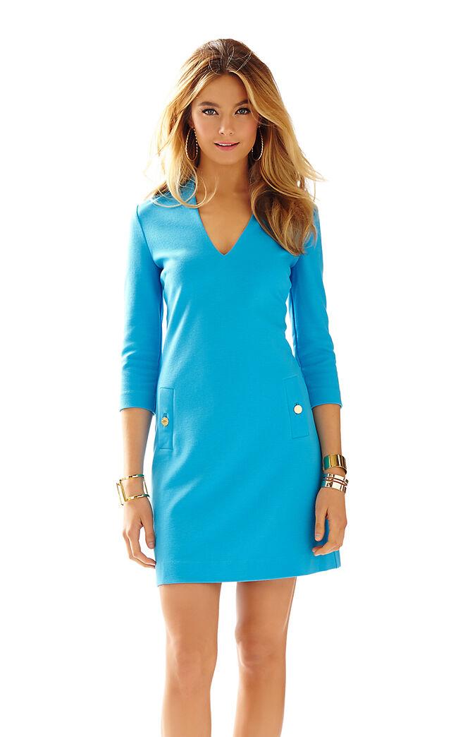 NWT LILLY PULITZER CHARLENA SHIFT ARIEL blueE XXS,XS,S,M,XL