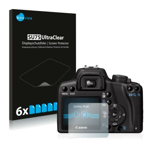 6x protector de pantalla para Canon EOS 1000D Película Invisible Shield Claro Plástico