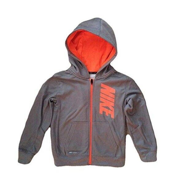 Buy Nike Therma Full ZIPPER Hodded Dri-fit Sweatshirt Boys Size 6 ... a41194f562