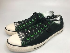 61d40c08fe14 Converse Sneakers Men Shoes Size 11 Chuck Taylor Black Plaid Tongue ...