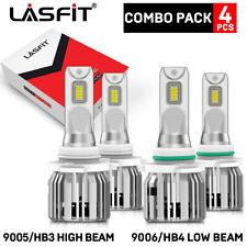 Lasfit Combo Led Headlight Bulbs 9005 9006 High And Low Beam Super Bright 6000k