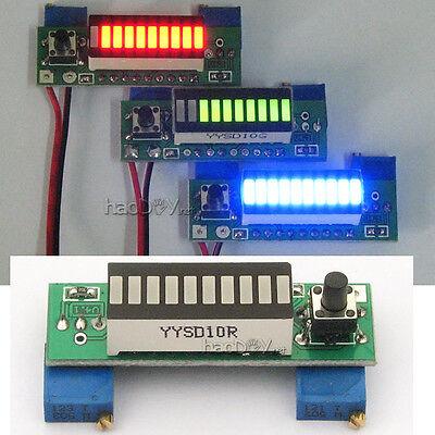 LM3914 10 Segment 5V 12V Battery Capacity Power Level LED Indicator Display Kits