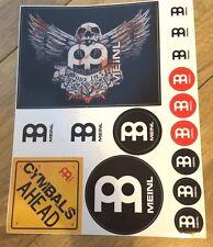 Meinl Cymbals Sticker Sheet Set Drummer/Drums // Free Shipping