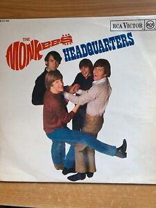 Monkees-Headquarters-LP-UK-Pressing-1967-Mono-RCA-Rec-RD-7886