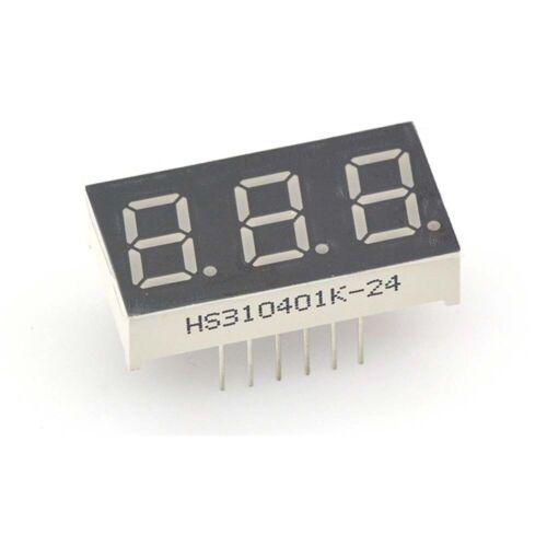 "0.36/""//0.4/""//0.56/""//0.8/"" Pantalla LED de segmento rojo 7//Cátodo Común ánodo de 1//2//3//4 Bits"