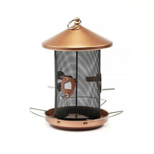 XXL-Vogel-Futterstation-Metall-Vogel-Futter-Saeule-Futterspender-Kupferlook-2-8-L