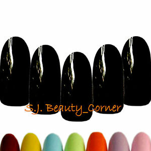 Nails-20-x-Oval-Rounded-Long-Full-Cover-False-25-Various-Colours-New