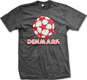 Denmark-Danish-Danmark-Flag-Euro-2012-Soccer-Ball-New-Men-039-s-T-shirt