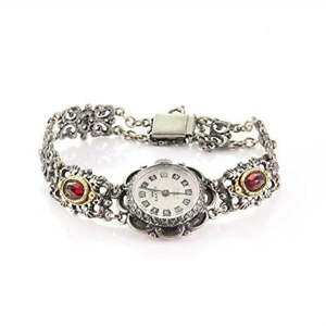 Image is loading Analog-Hand-Wound-Traditional-Costume-Women-039-s-  sc 1 st  eBay & Analog Hand Wound Traditional Costume Womenu0027s Watch Anker Silver 835 ...
