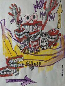 LDC-Lysiane-COSTE-technique-mixte-sur-papier-art-delire-humour