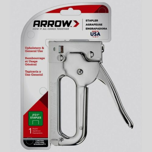 "Arrow Stapler Fastener Upholstery Multi Use Staple Gun 7//16/"" T21 Staples JT21CM"