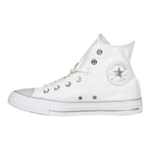 Details zu Converse Damen Chucks 559886C All Star High Sneaker Metallic Finish Weiß Silver