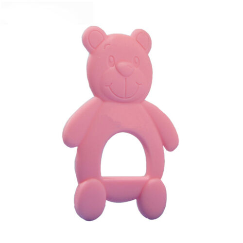 Bear Rubber Infant Biting Chewing Teething Safety Silicone Baby Teether