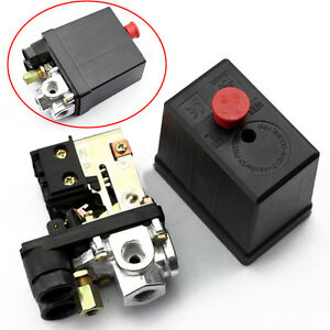 pressostat compresseur d 39 air vanne de r gulation de pression 240v 16a 90 120psi ebay. Black Bedroom Furniture Sets. Home Design Ideas