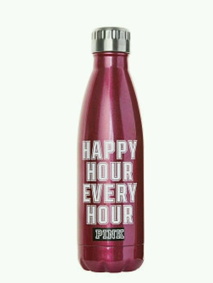Victoria's Secret PINK  Happy Hour  Insulated Stainless Steel Water Bottle NIB