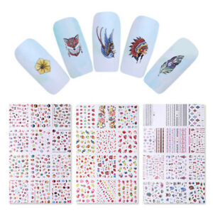 Dreamcatcher-Fruits-Ice-Creams-Nail-Art-Water-Decals-Transfer-Stickers