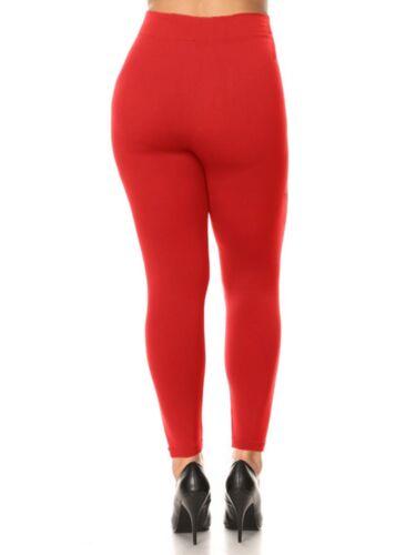 L//1X//2X Women Queen Size Warm Fleece Lined Full Length Leggings Plus Size