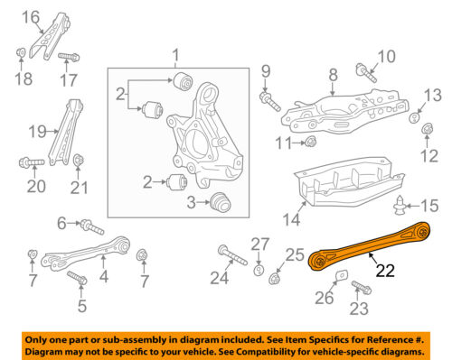 Chevrolet GM OEM 16-18 Camaro Rear-Adjust Link 23117751