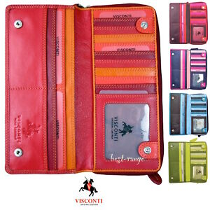 Ladies Purse Large Soft Leather Colourful High Quality Visconti New in Box RB55