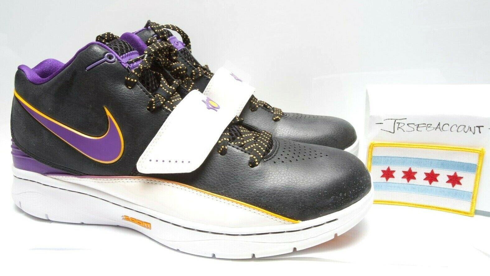 Nike Zoom KD II 2 - Lakers   PG Jaguars AAU - Size 11 - 386423-002