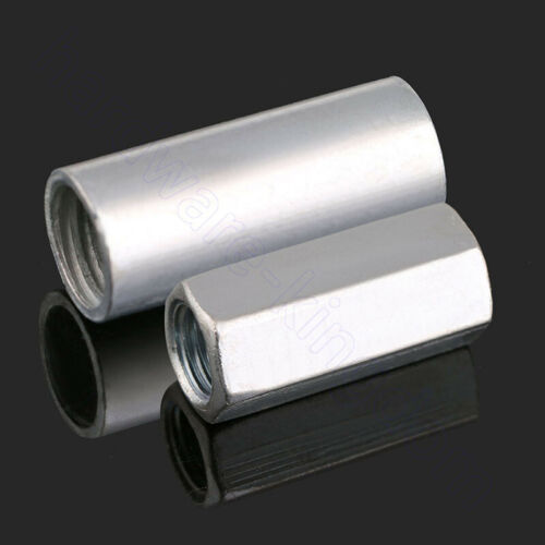 Hex Rod Coupling Nut Hex Connector Nut Bright Zinc Plated M6 8 10 12 14 16 18 20
