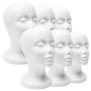 Foam-Mannequin-Female-Head-Model-Dummy-Wig-Glasses-Hat-Display-Stand-Rack-Salabl