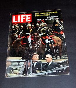 LIFE MAGAZINE JUNE 9  TH 1961 JOHN F KENNEDY IN PARIS