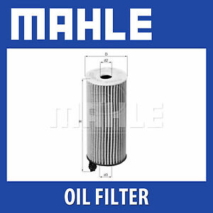 Mahle-Filtro-De-Aceite-OX404D-Ox-404D-Genuine-Part