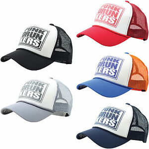 M38 Cool Unisex Punk Drunkers Simple Design Baseball Cap Style Mesh ... d0d1574d4fef