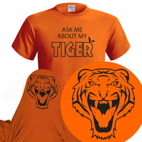 Ask Me About My Tiger Kids Funny T Shirt T Rex