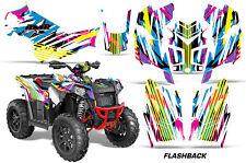 Polaris Scrambler 850/1000 AMR Racing Graphic Kit Wrap Quad Decal ATV 13-14 FLSH