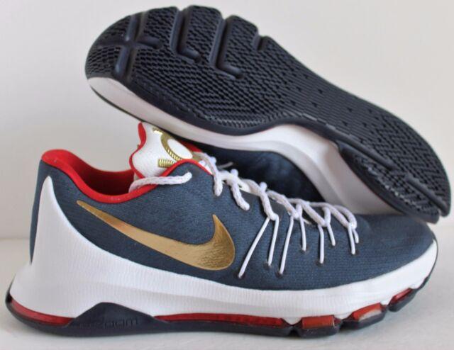 official photos 8fd47 c5e6d Nike Men KD 8 VIII Kevin Durant USA Blue-red-white-gold Sz 9 ( 818303-995 )  for sale online   eBay