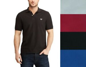 Chaps-Mens-Stretch-Solid-Polo-Solid-size-S-M-L-XL-NEW
